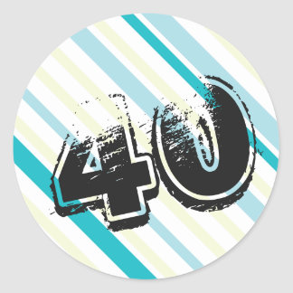40 yr Bday - 40th Birthday Party Round Sticker