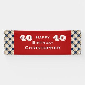 40th, 45th Birthday Party Baseball