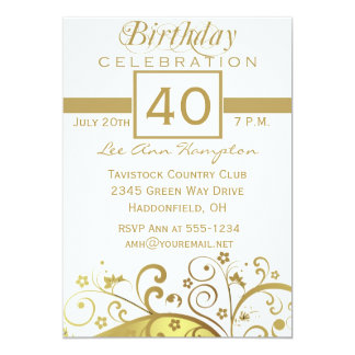 40th - 49th Birthday Party Invitations