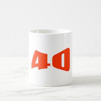 40th Anniversary Invitation Basic White Mug