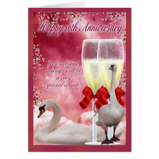40th Anniversary - Ruby Anniversary Greeting Card