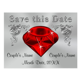 40th Anniversary Save the Date Cards PERSONALIZED
