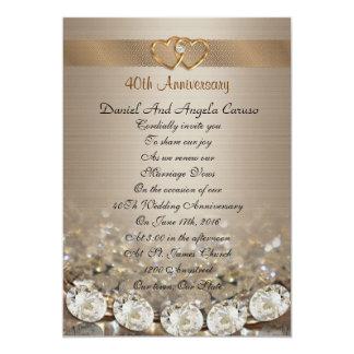 40th Anniversary vow renewal Invitation