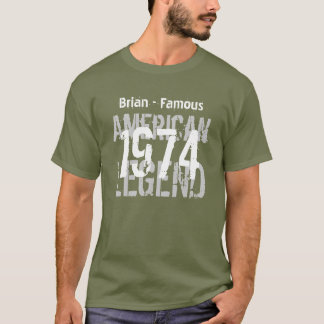 40th Birthday 1973 Famous American Legend V05 T-Shirt