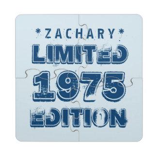 40th Birthday 1975 Limited Edition Custom E15 BLUE Puzzle Coaster