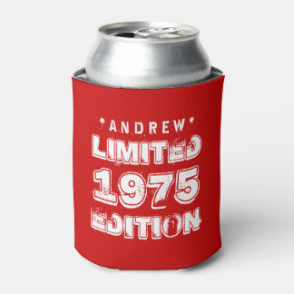 40th Birthday 1975 or ANY YEAR E28 RED Can Cooler