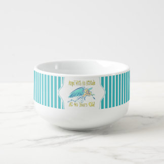 40th Birthday Angel With An Attitude Soup Bowl With Handle