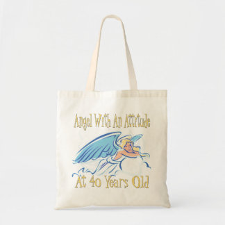 40th Birthday Angel With An Attitude Tote Bag