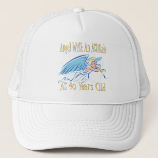 40th Birthday Angel With An Attitude Trucker Hat