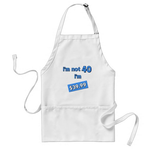 40th birthday apron