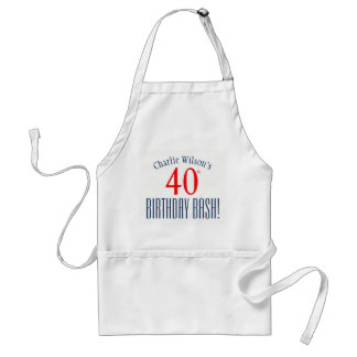 40th Birthday Bash! Birthday Party Apron