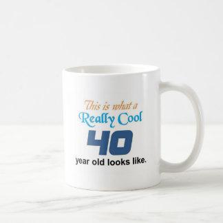 40th Birthday Basic White Mug