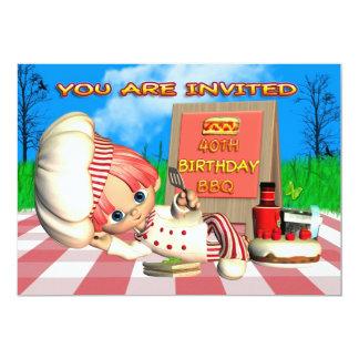 40th Birthday BBQ Invitation