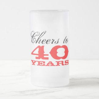 40th Birthday Beer Glass Mug | Gift for men