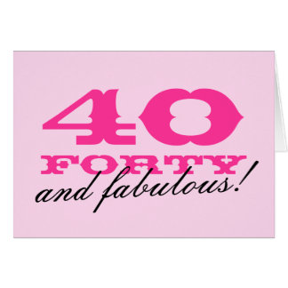 40th Birthday card for women | 40 and fabulous