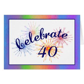 40th Birthday Celebration Card