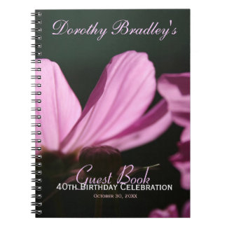 40th Birthday Celebration Customizable Guest Book Note Book