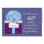 40th Birthday Customisable Card