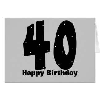 40th Birthday (customizable) Greeting Card