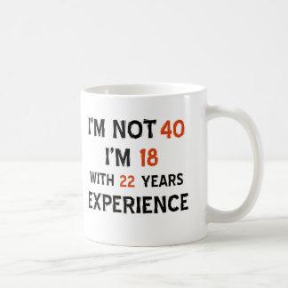 40th birthday designs basic white mug