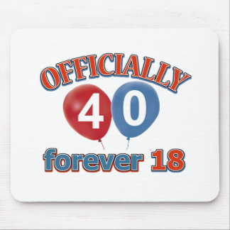 40th birthday designs mouse pad