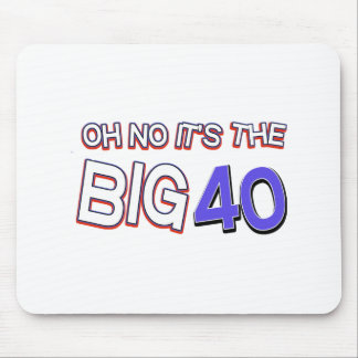 40th birthday designs mouse pads