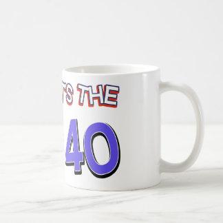 40th birthday designs mugs
