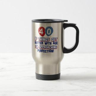 40th birthday designs travel mug