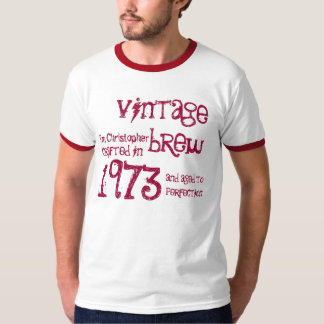 40th Birthday Gift 1973 Vintage Brew Name For Him T-Shirt
