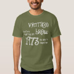 40th Birthday Gift 1973 Vintage Brew T-shirts