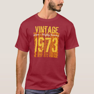 40th Birthday Gift Best 1973 Vintage V500 T-Shirt