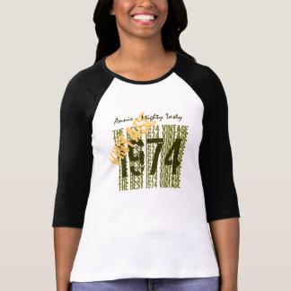 40th Birthday Gift Best 1974 Vintage Diagonal 010 T-Shirt