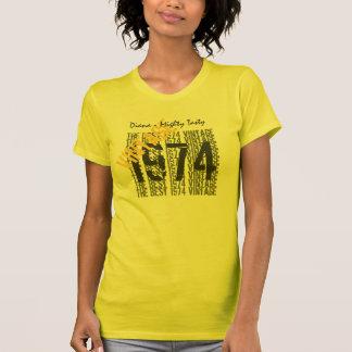 40th Birthday Gift Best 1974 Vintage Diagonal 012 Tee Shirts