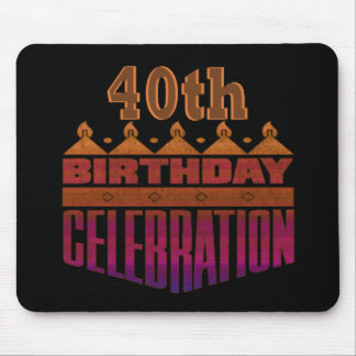 40th Birthday Gifts Mouse Pad