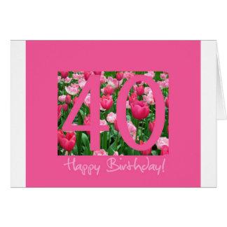 40th birthday greeting greeting card