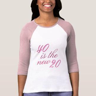 40th Birthday Joke 40 is the new 20 T-Shirt