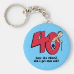 40th birthday key chain