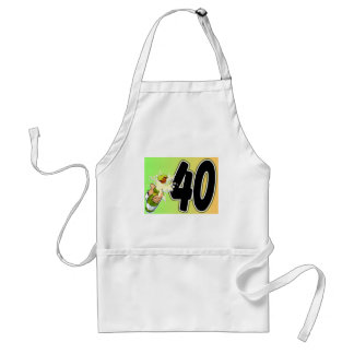 40th birthday merchandise standard apron