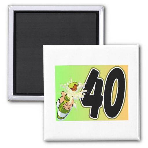 40th birthday merchandise refrigerator magnets