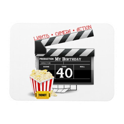 40th Birthday Movie Birthday Party Magnet