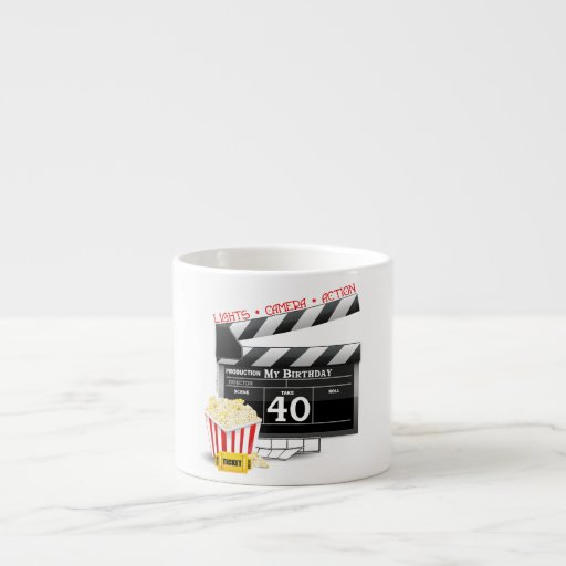 40th Birthday Movie Birthday Party Espresso Cups