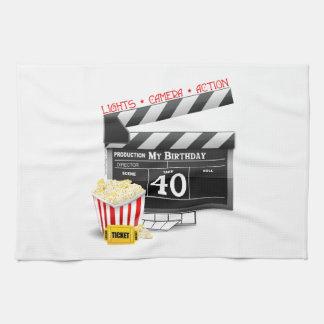 40th Birthday Movie Birthday Party Tea Towel