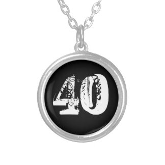 40th Birthday Round Pendant Necklace