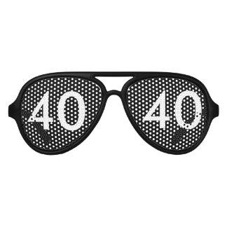 40th Birthday Novelty Aviator Sunglasses