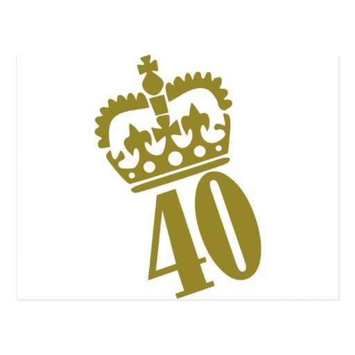 40th Birthday - Number – Fourty Postcards