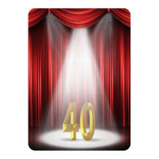 40th Birthday Party 11 Cm X 16 Cm Invitation Card