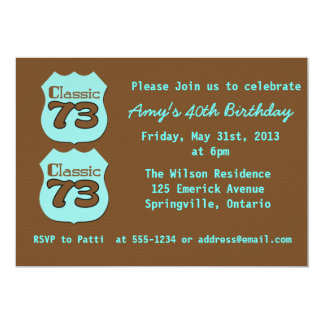 40th Birthday Party 13 Cm X 18 Cm Invitation Card