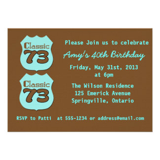 40th Birthday Party Announcement
