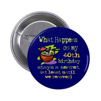 40th Birthday Party Gifts 6 Cm Round Badge
