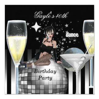 40th Birthday Party Girls Night Out Champagne Card